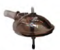 FULLWOOD 021742 Trans Bowl With Hole(Lg Spndl)